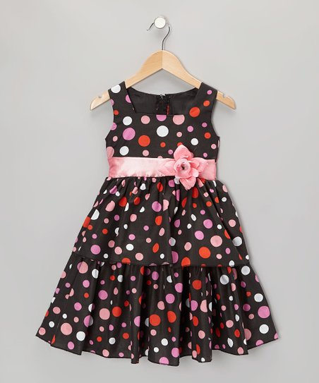 092a98f312d5 love this product Black & Pink Polka Dot Dress - Infant, Toddler & Girls