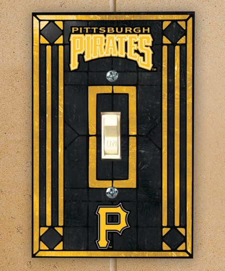 The Memory Company Pittsburgh Pirates Art Glass Light-Switch Cover