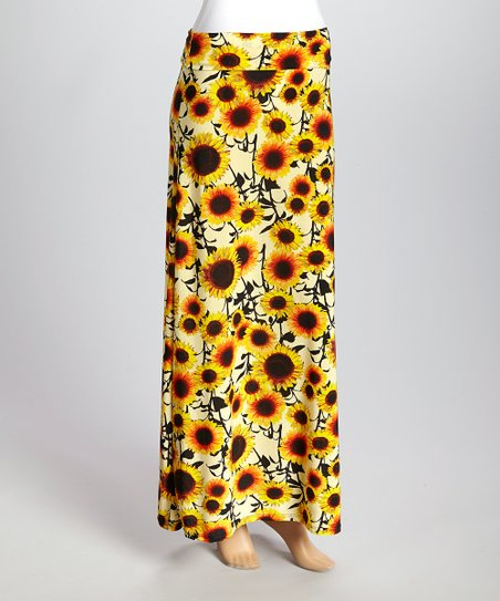 b7c87cc545d2 love this product Yellow Sunflower Maxi Skirt