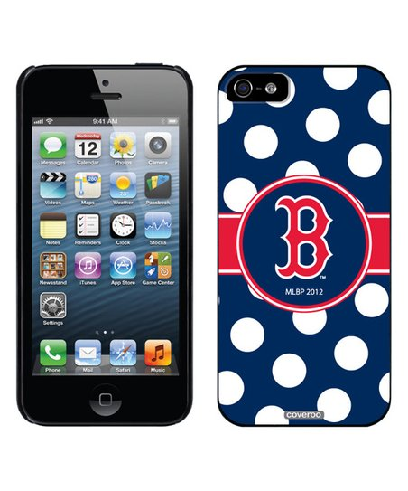 Coveroo Boston Red Sox Polka Dot Snap-On Case for iPhone 5 5s  3daed0889694
