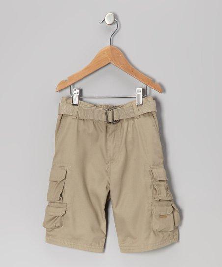 0d64a5637a ROADBLOCK Khaki Belted Cargo Shorts - Toddler | Zulily