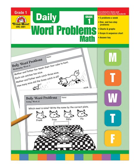 Evan-Moor Educational Publishers Grade 1 Daily Word Problems: Math Workbook