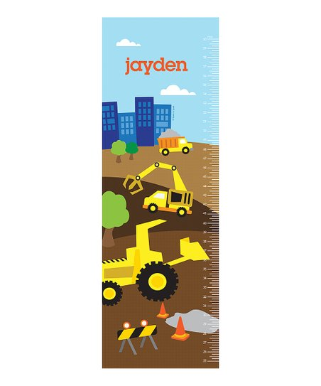 Spark Spark Construction Site Personalized Growth Chart Decal Best Price And Reviews Zulily