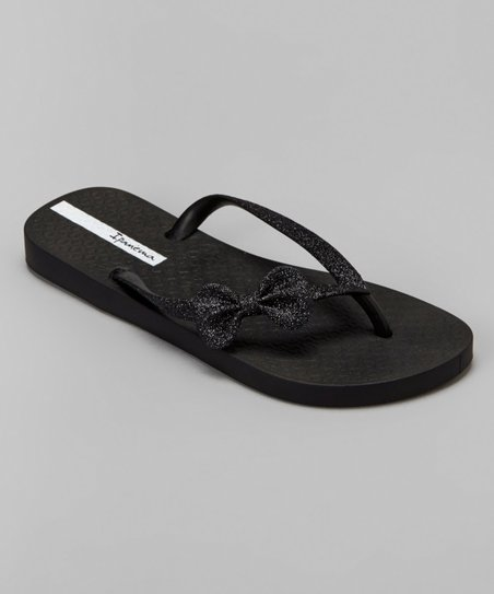 ipanema black glitter flip flops