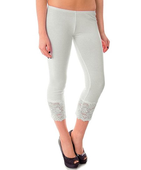 e34e4f6abfd love this product Ivory Lace Capri Leggings - Women   Plus