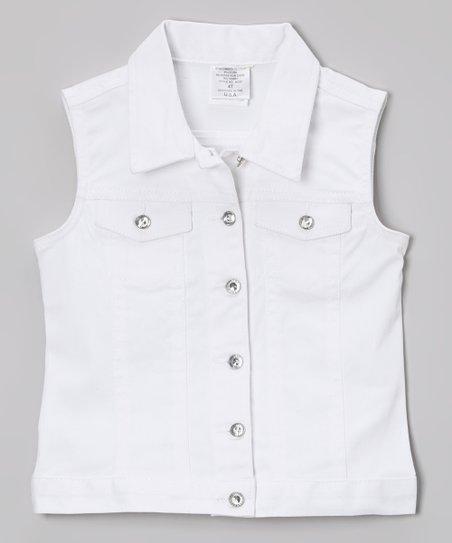 6fb7a4ff89acb8 love this product White Denim Vest - Infant