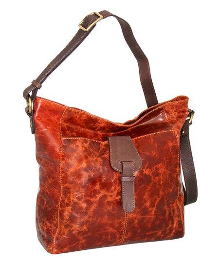 ca7270ed3b Nino Bossi Handbags Cognac Colossal Leather Crossbody Bag