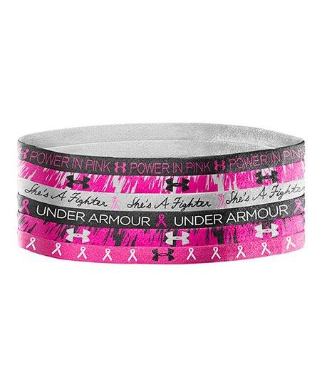 Under Armour® Black   Pink Graphic Mini Headband Set ac6e8f7c2b2