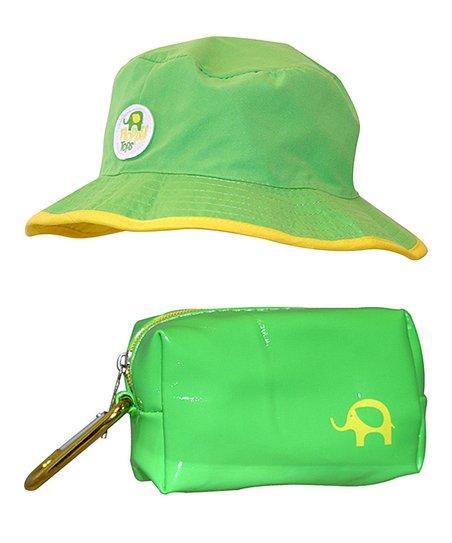 Floppy Tops Lime Green Floppy Reversible Sun   Rain Hat  2e6bc0c3042