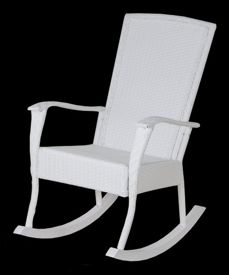 Stupendous Hinkle Chair Company White All Weather Full Back Rocker Zulily Andrewgaddart Wooden Chair Designs For Living Room Andrewgaddartcom