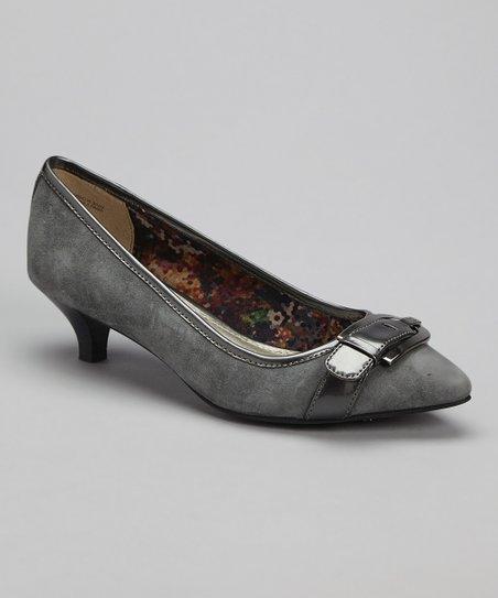 Dark Gray Muriele Kitten Heel