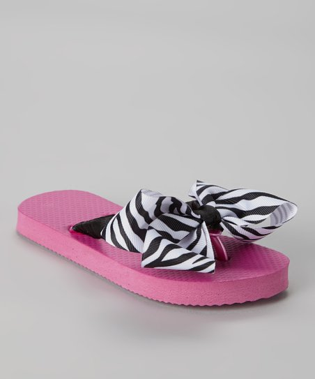 d83b86623 love this product Pink Zebra Ribbon Flip-Flop   Hair Bow