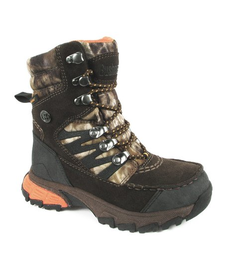 f7c966ba339 Bushnell Brown & Orange Xlander Youth Hiking Boot - Kids