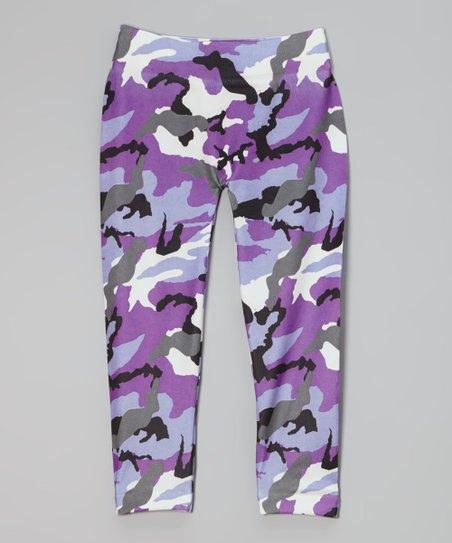 372dbb00bf love this product Purple Camo Leggings - Toddler   Girls
