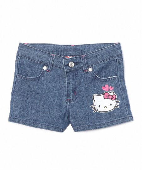 42a8cd699 love this product Medium Blue Hello Kitty Denim Shorts - Toddler