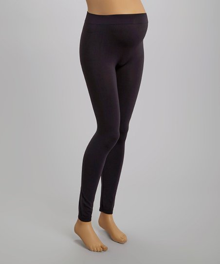 41116ced7522e Candy Rain Charcoal Seamless Mid-Belly Maternity Leggings - Women ...