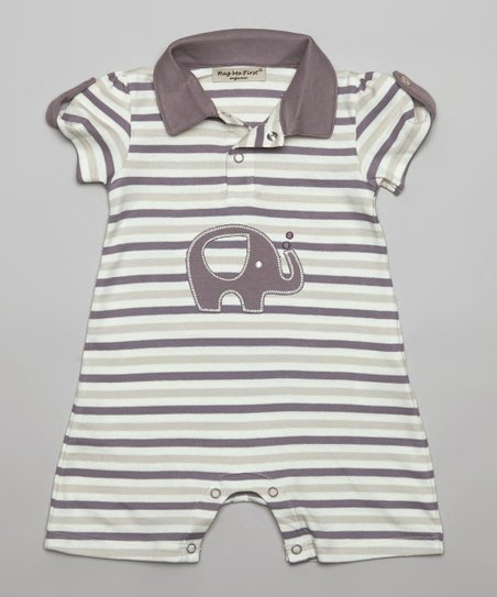 3f52fc83b26 Hug Me First Gray Stripe Zoe Organic Pima Romper - Infant