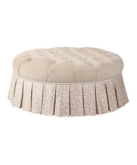 Wondrous Jennifer Taylor Home Off White Lumina Round Ottoman Zulily Spiritservingveterans Wood Chair Design Ideas Spiritservingveteransorg