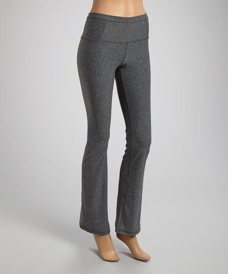1a09d3cab176e VOGO Heather Charcoal Flare Yoga Pants | Zulily