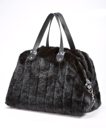 1bd2c0d1598f Donna Salyers Fabulous-Faux Furs Black Faux Mink Fur Weekender