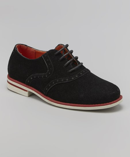 brand new cbbf1 a109d Eddie Marc Kids Black & Red Sole Lace-Up Oxford