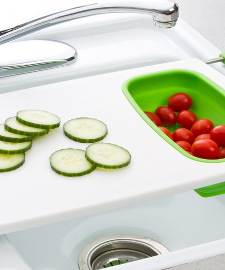 Collapsible Over The Sink Colander Cutting Board by Progressive