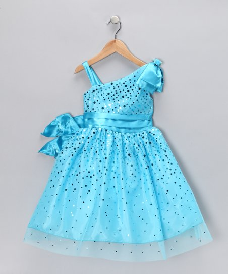77d7d676c Chic Baby Turquoise Glimmer Dress - Toddler   Girls