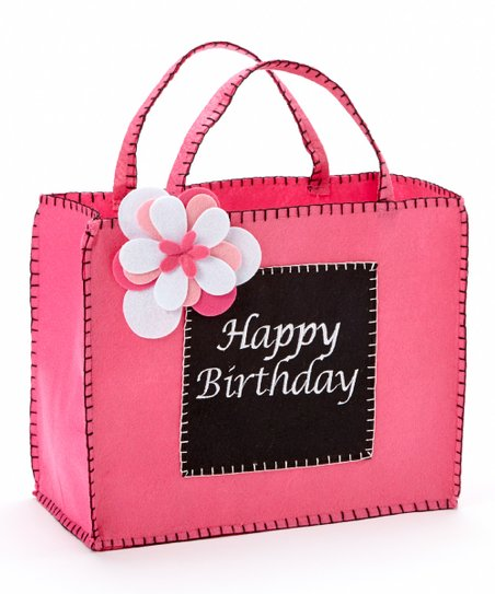 Love This Product Black Pink Happy Birthday Gift Bag