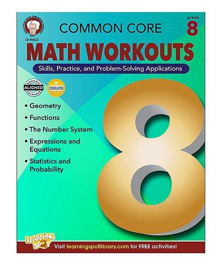 Carson Dellosa Math Workouts Grade 8 Workbook
