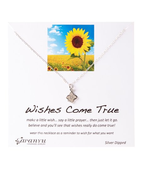 Sapanyu Silver-Plated Wishes Come True Pendant Necklace