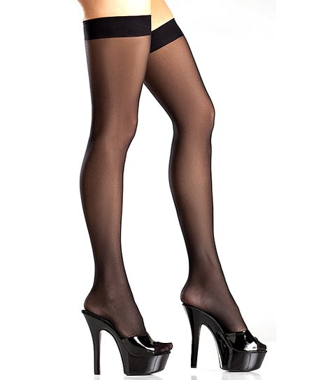 7ee4d9f3d32 love this product Black Band Sheer Thigh-High Stockings - Women
