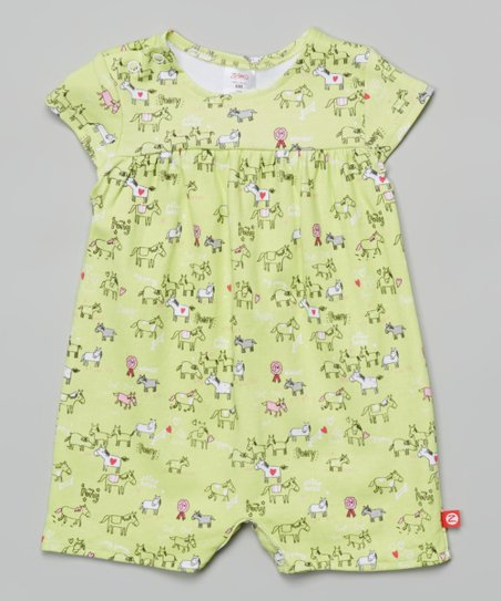 eba343a08392 Zutano Hay My Pony Cap-Sleeve Romper - Infant
