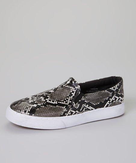 Snakeskin Rosalind Slip-On Sneaker