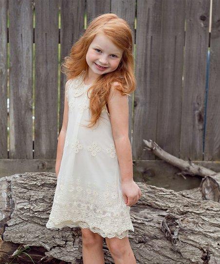 43e202b58 Sweet Charlotte Ivory Lace Sheath Dress - Toddler & Girls | Zulily