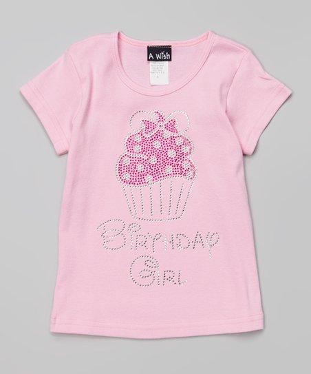 Love This Product Pink Rhinestone Cupcake Birthday Girl Tee