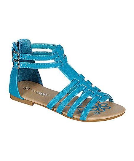 a8159567a62 PINKY FOOTWEAR Blue Quad-Strap Paige Gladiator Sandal