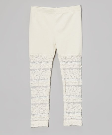 1fb3b0e569a love this product Ivory Lace Leggings - Toddler   Girls