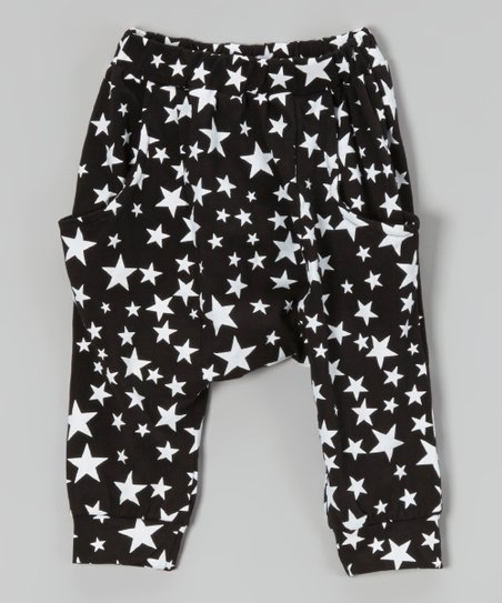 Black Star Harem Pants - Toddler