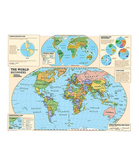 National Geographic Beginners World Kids' Laminated Map