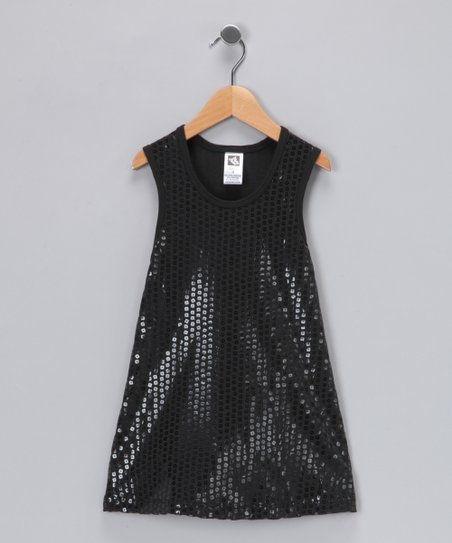 99b25eccaae4 Angela Frost Black Sequin Dress - Toddler & Girls   Zulily