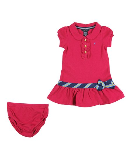 a2b52c3e love this product Medium Pink Piqué Polo Dress - Infant, Toddler & Girls
