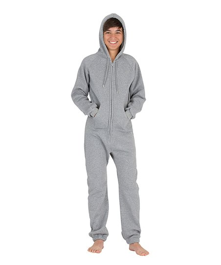 a8fe61779d58 Footed Pajamas Laid-Back Gray Hooded Pajamas - Kids