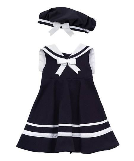 d48dea61b2ed6 Rare Editions Navy Sailor Dress Set - Infant | Zulily