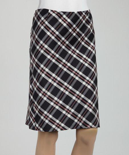 987613db08 love this product Black & Pink Plaid Silk Pencil Skirt