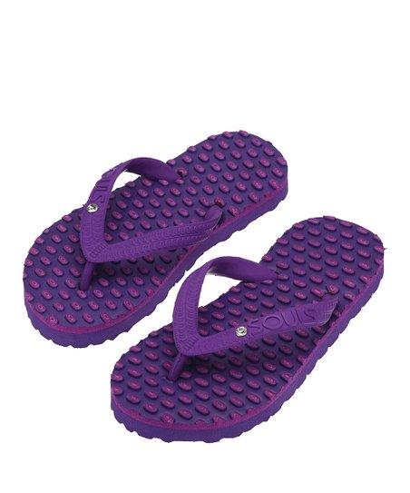 3db828c5009b love this product Purplish Bling Comfort Massage Flip-Flop - Kids