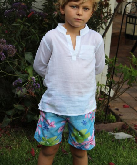 Azul Swimwear Boys Tropical Notes Swim Shorts