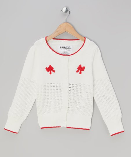 9fb19698ca79 Rockefella Off-White Darlene Cardigan - Infant