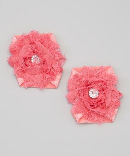 4b9c481b24cc The Bow Lady Coral Shabby Flower Barefoot Sandal