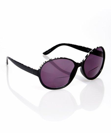 a1cf88217e48 I Love Accessories Black & White Zebra Bifocal Reading Sunglasses ...