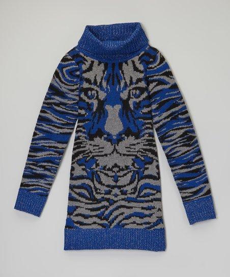 d9be85e06 Dollhouse Cobalt Tiger Sweater Dress - Girls
